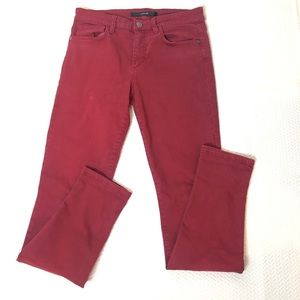 Joe's Skinny Visionaire Ruby Red Wash Jeans 28